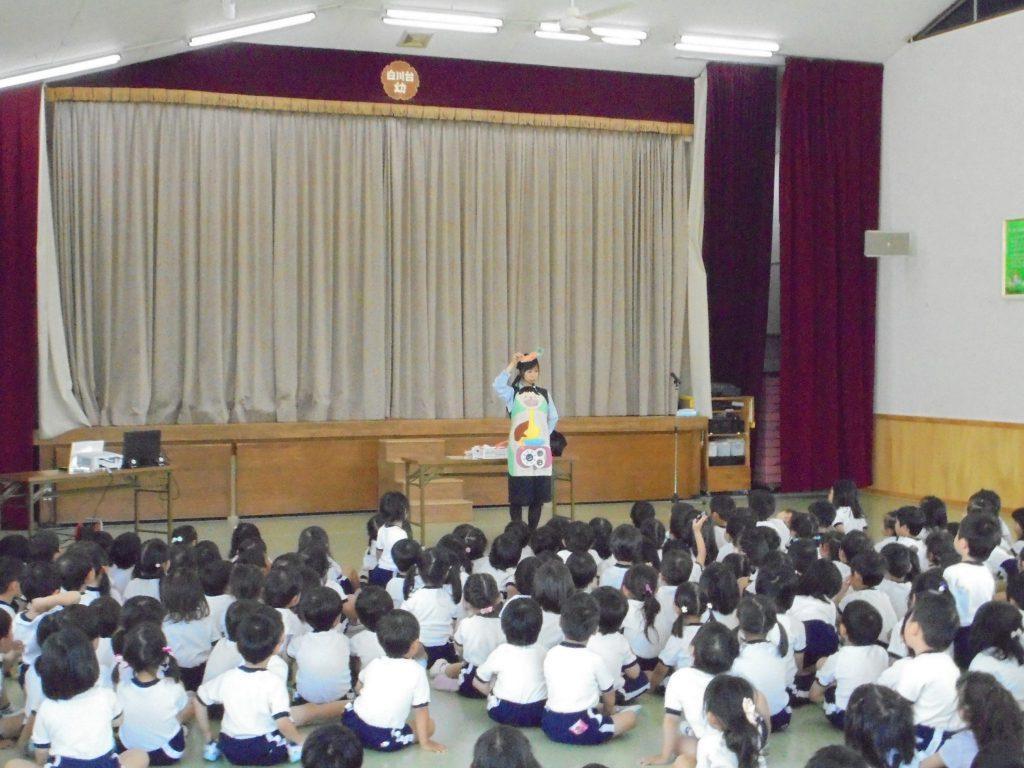 白川台幼稚園さまで出前授業を開催いたしました