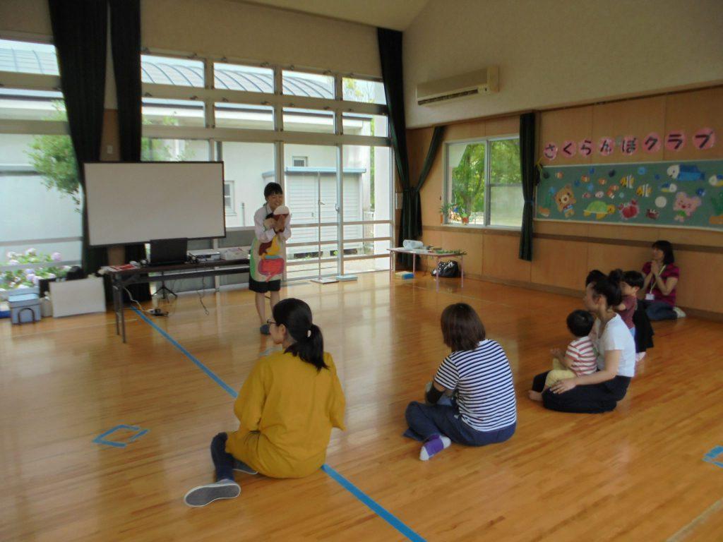 藤原台児童館さまでおなか元気教室を開催いたしました。