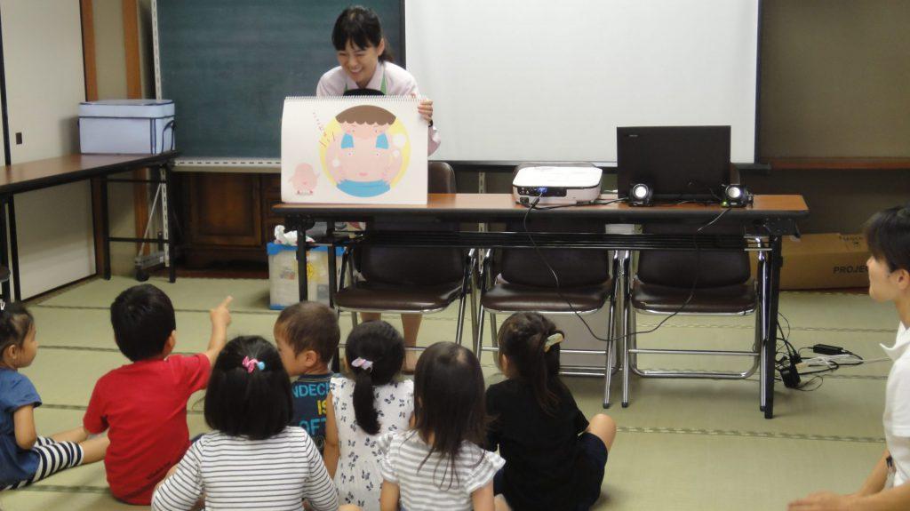 河原児童館さまでおなか元気教室を開催いたしました。