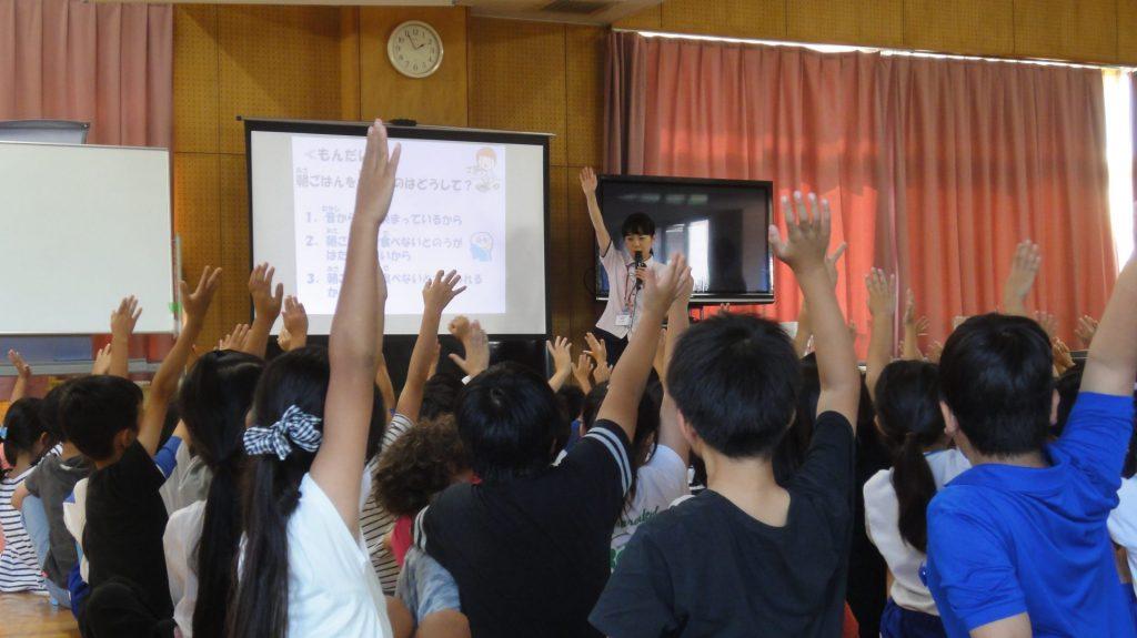 なぎさ小学校さまで「おなか元気教室」を開催いたしました。